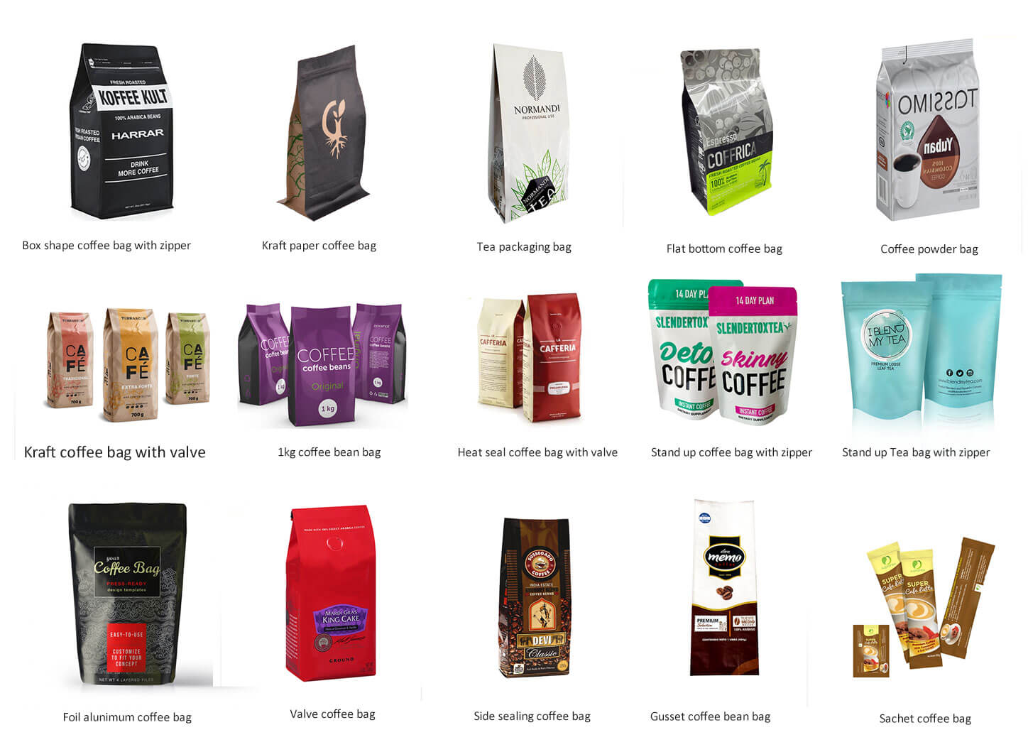 coffee bags manufacturers