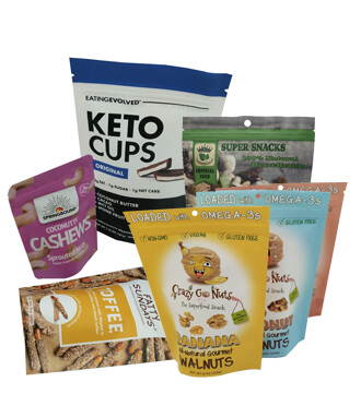 custom printed food pouches