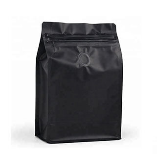 1 Matte Resealable Flat Bottom Coffee Pouch With Valve
