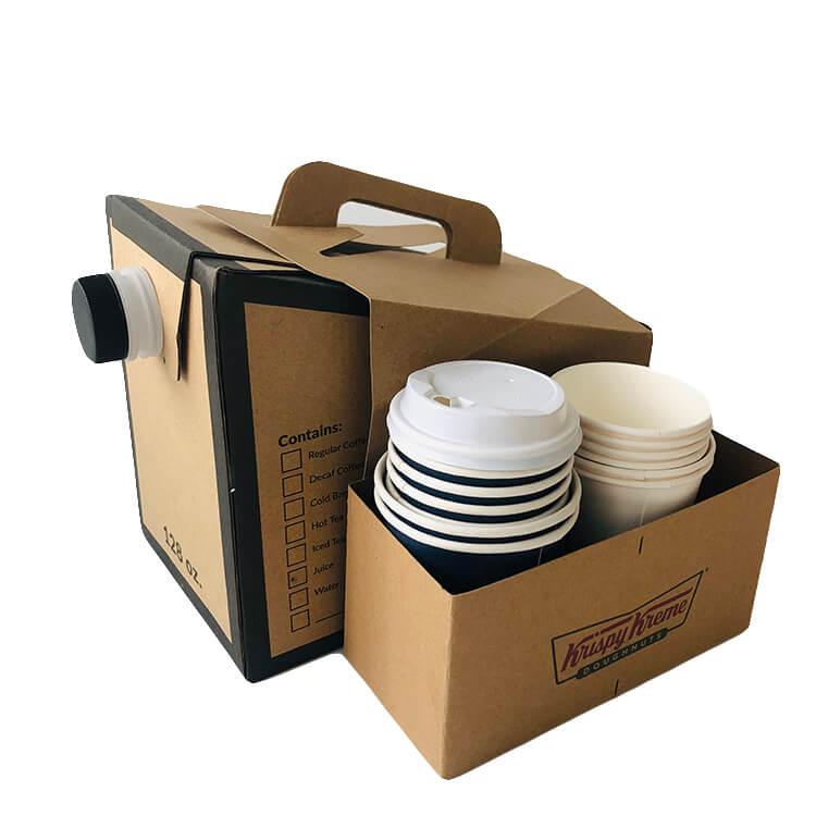 coffee bag in box with cup holder